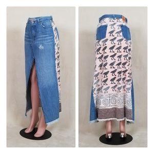 Replay long denim skirt
